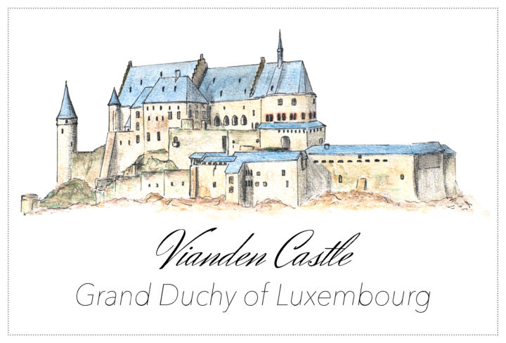 Vianden Castle, Luxembourg - Free postcard to download on www.RoadTripsaroundtheWorld.com