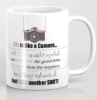 Life is like a camera mug - designed by Miss Coco