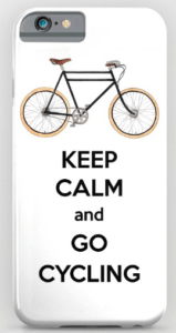 Keep calm and go cycling phone case by Miss Coco