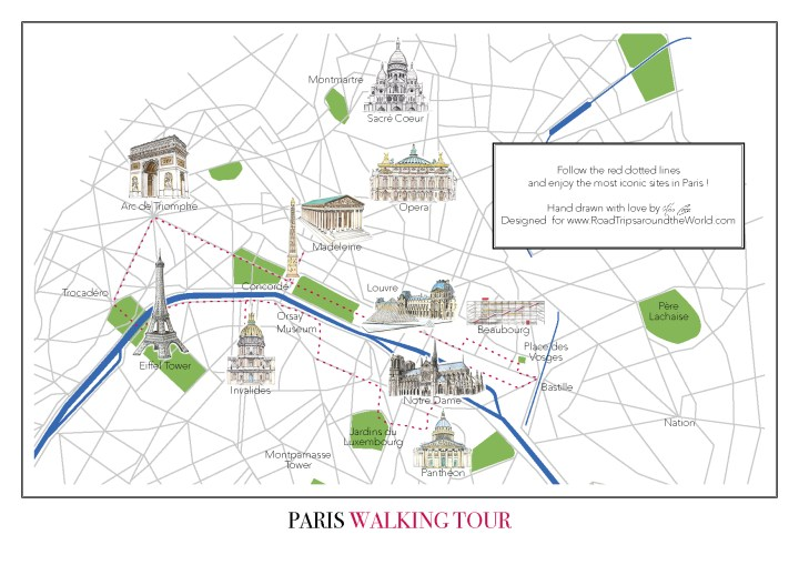 paris walking tour map free map to download only on road trips around the