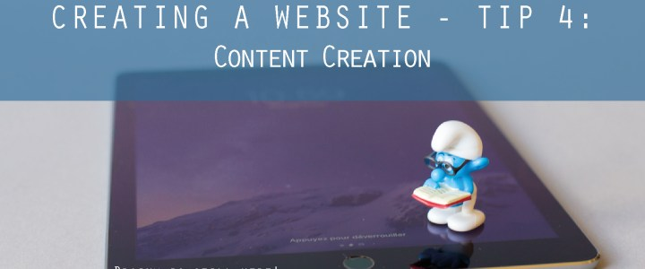 How to create a Website – Part 4 – Content Creation