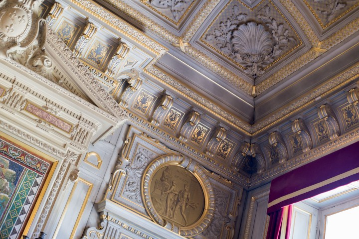 Ceiling of the Grand Apartments of the Chateau de Chantilly, France - www.RoadtripsaroundtheWorld.com