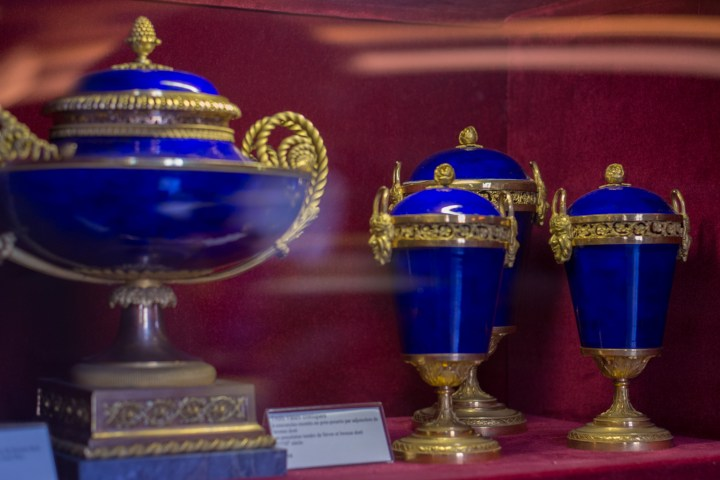 Chateau de Chantilly, France - display of antique porcelain - www.RoadtripsaroundtheWorld.com