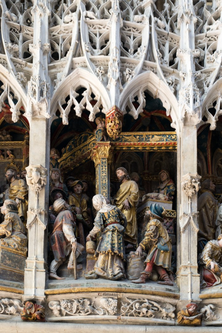 Detail of the Low relief of the Choir Screen - North Ambulatory - Amiens Cathedral, France - www.RoadTripsaroundtheWorld.com