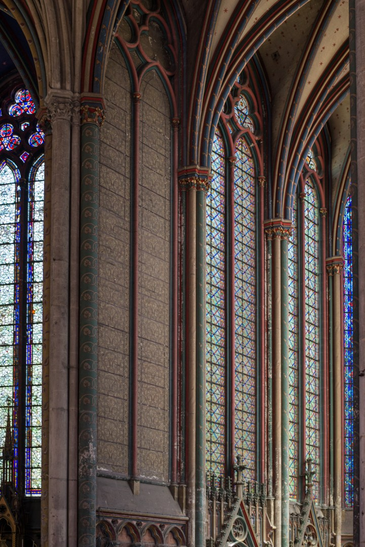 Stained windows - chapels - Amiens Cathedral, France - www.RoadTripsaroundtheWorld.com