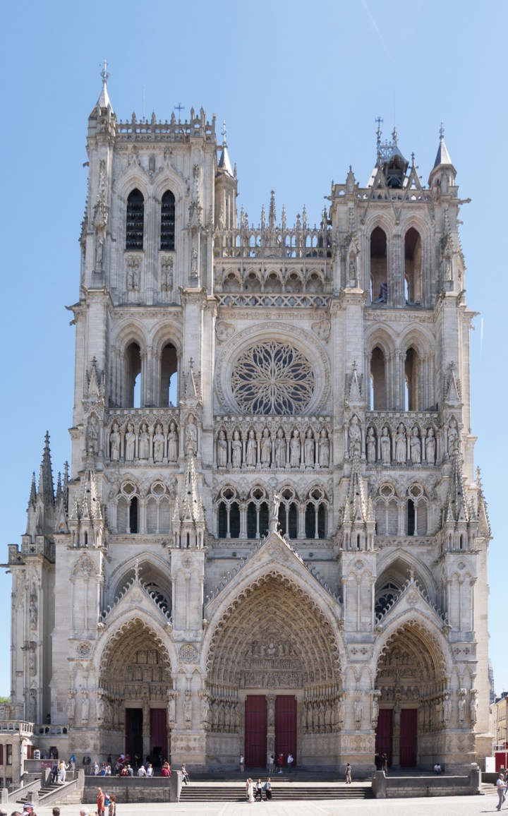 The Amiens Cathedral gothic facade - France - www.RoadTripsaroundtheWorld.com