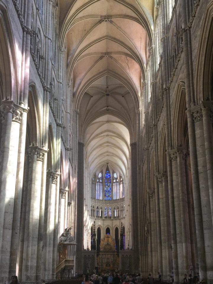 The Amiens Cathedral grandiose nave - www.RoadTripsaroundtheWorld.com