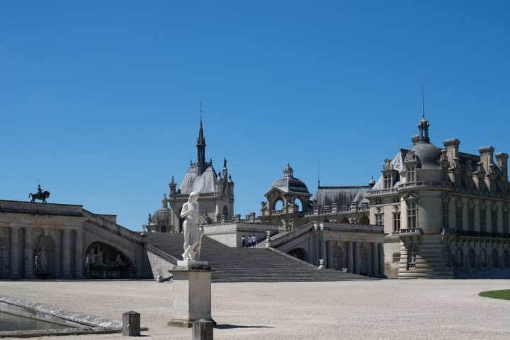 The Chateau de Chantilly from the courtyard - Picardie, France - www.RoadtripsaroundtheWorld.com