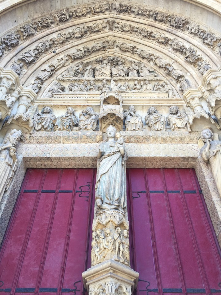 The Portal of the Virgin - Amiens Cathedral, France - www.RoadTripsaroundtheWorld.com