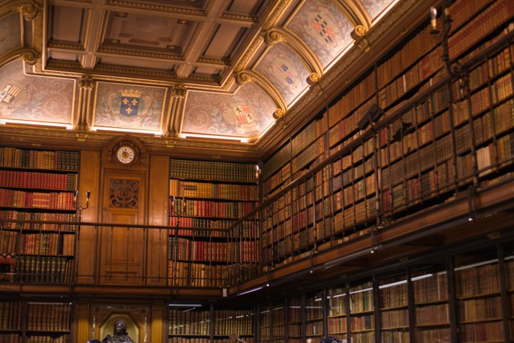 The library of the Chateau de Chantilly, France - www.RoadtripsaroundtheWorld.com