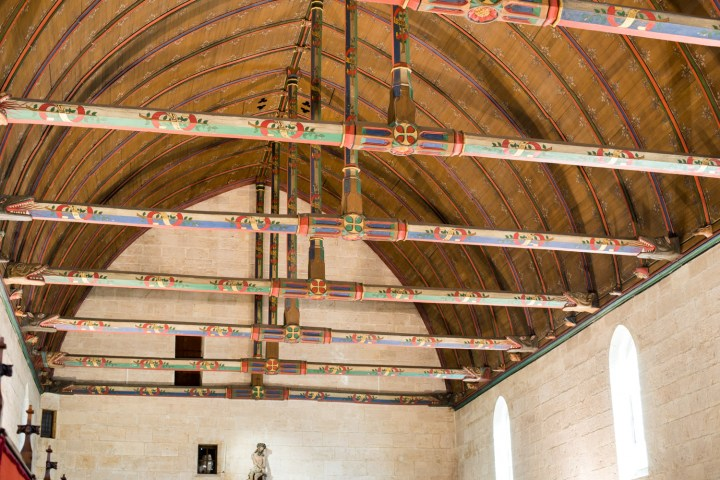 Visit of the Hospices of Beaune - the ceiling - www.RoadTripsaroundtheWorld.com