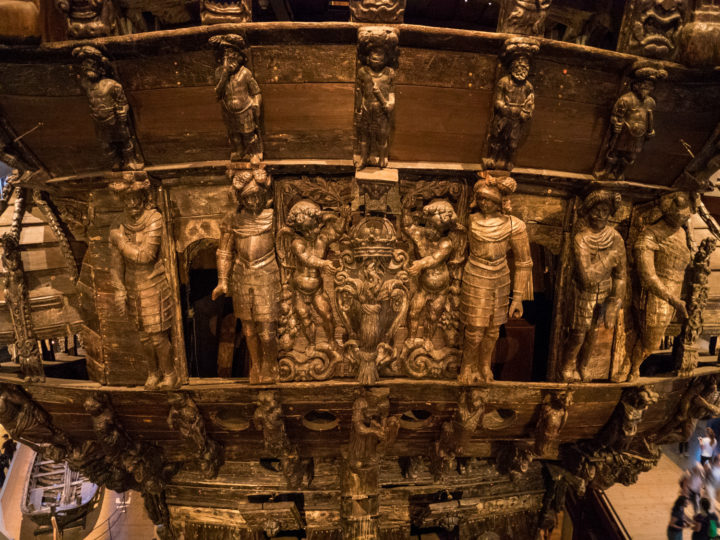 Details of the decoration of the stern of the Vasa ship - Vasa Museum - Stockholm, Sweden - www.RoadTripsaroundtheWorld.com