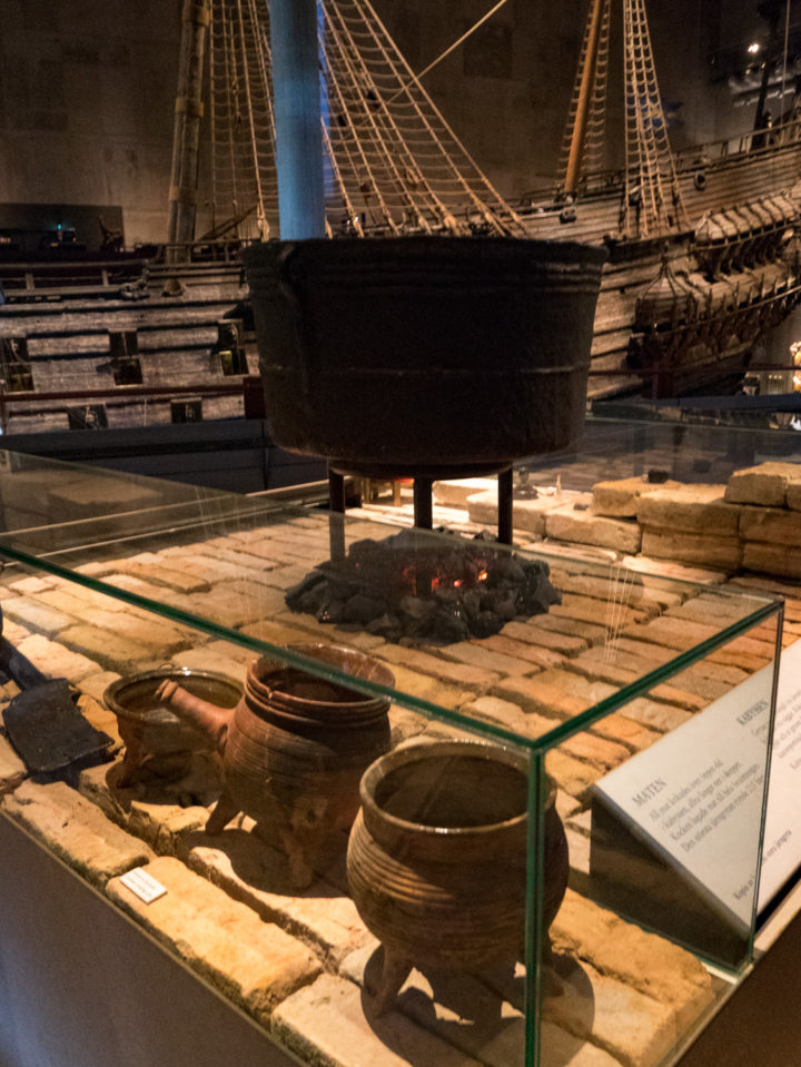 The cooking area of the Vasa Ship - Vasa Museum - Stockholm, Sweden - www.RoadTripsaroundtheWorld.com