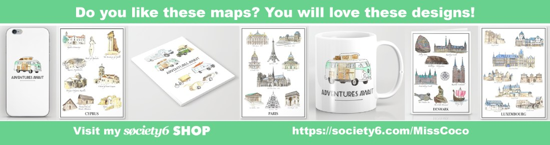 Like these maps? You will love these designs - Miss Coco designs for RTatW
