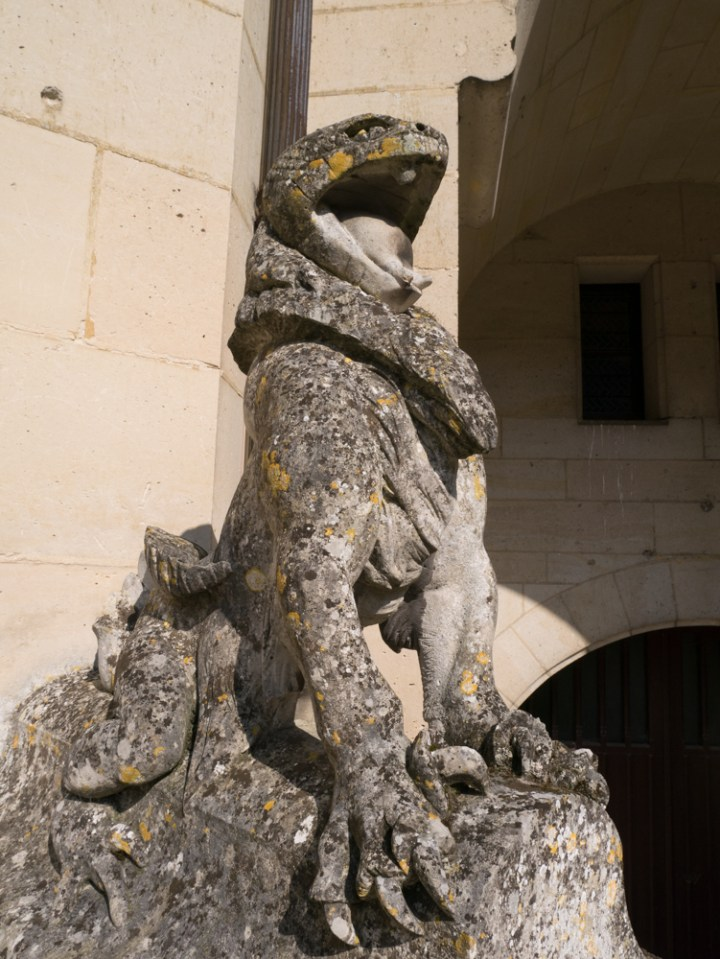 Squatting monster - Chateau de Pierrefonds, France - www.RoadTripsaroundtheWorld.com