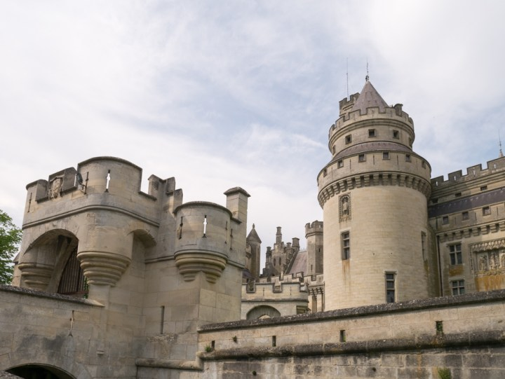 The entrance and drawbridge - Chateau de Pierrefonds, France - www.RoadTripsaroundtheWorld.com