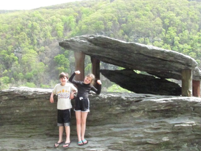 Maya and Garrett at Jefferson's Rock- Harpers Ferry National Historical Park