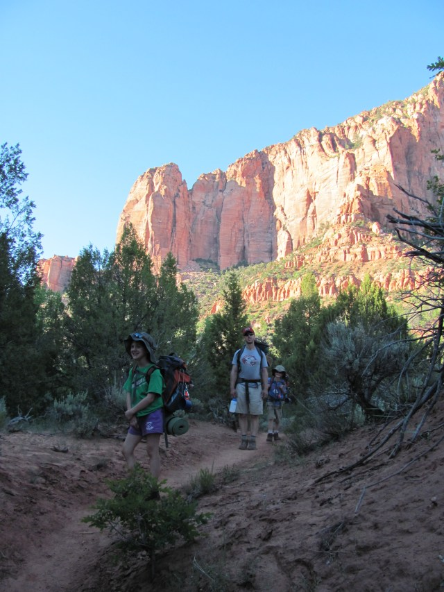 La Verkin Creek Trail in Kolob Canyon, Zion National Park