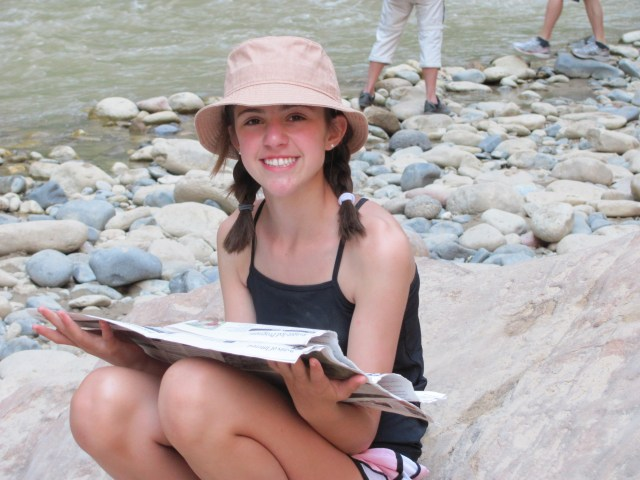 Naomi on the Virgin River Bank in Zion National Park