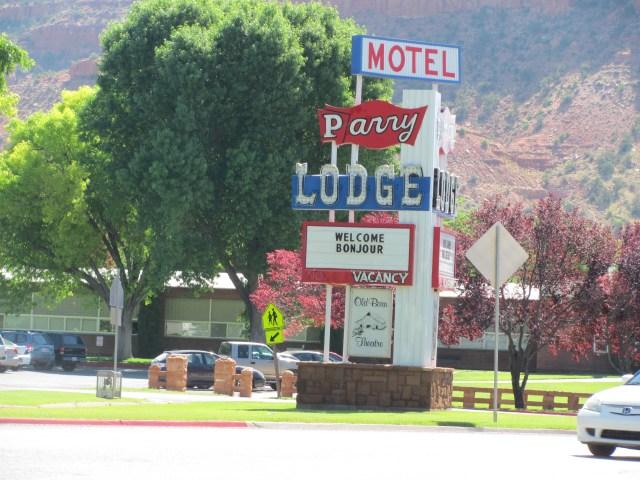 Parry Lodge Motel in Kanab, Utah
