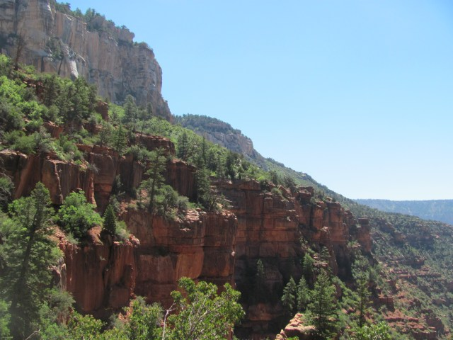Grand Canyon Rim to Rim with kids- Views From the North Kaibab Trail