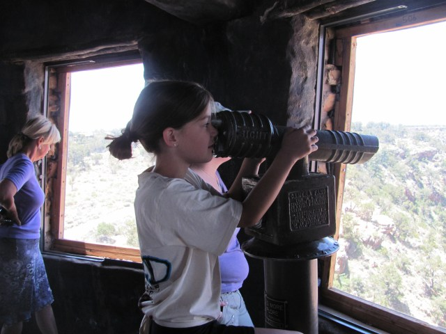 Grand Canyon Rim to Rim with kids: Enjoying the View From Desert Watchtower