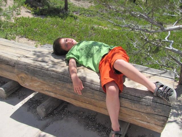 Garrett Taking it Easy in Bryce Canyon National Park