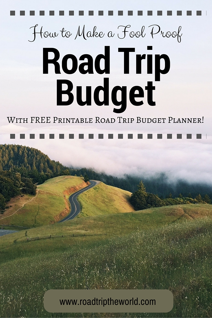 free road trip budget planner