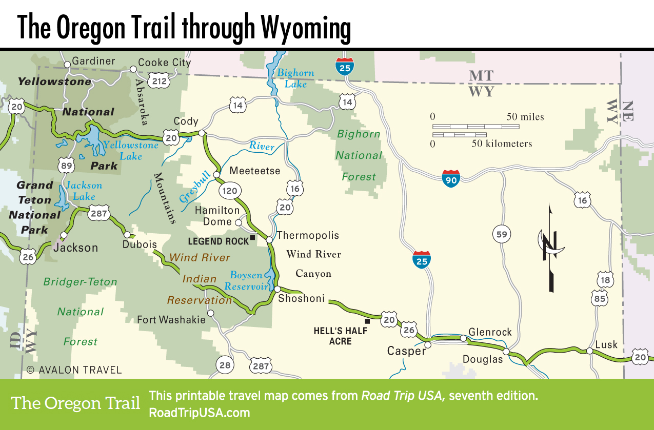 The Oregon Trail Across Wyoming