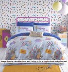 Willy Wonka Golden Ticket Duvet Cover Set