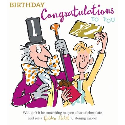 Golden Ticket Birthday Card