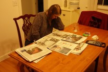 Reading the NY Times - Now we are really settled in!
