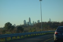 Passing Charlotte, NC in the HOV lane