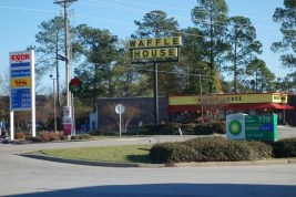 Fuel is cheap and the Waffle House lures in the South