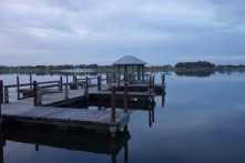 Fake docks in a fake town