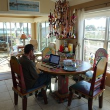 Mark in my work space at the kitchen table