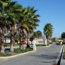 Entering one of the many neighborhoods