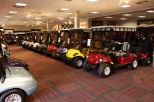 In the golf cart store - regular models