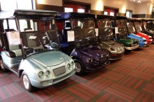 In the golf cart store - funky models