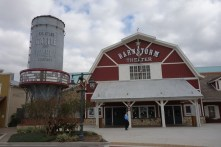 Brownwood's movie theater - each of the three village squares has one