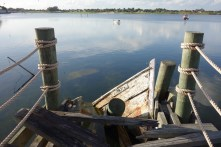 A staged crash into the dock