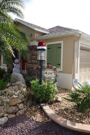 Most front yards are personalized and decorated