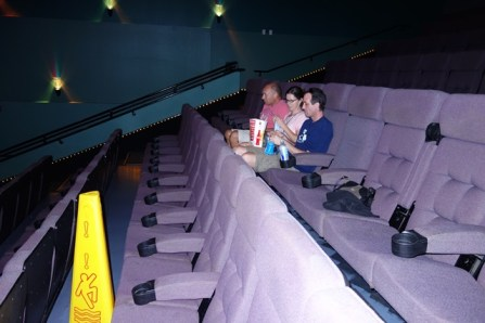 We were basically the only people in this movie theater!