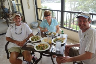Lunch with Lili and Steve