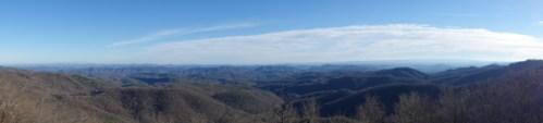 The extensive mountain range