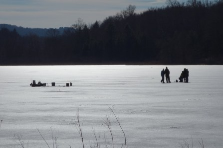 Ice fishing in South Kent