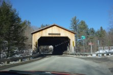 Just like getting to our current house sit in Kent via Bull's Bridge, we drive through a covered bridge to visit our next house sit!