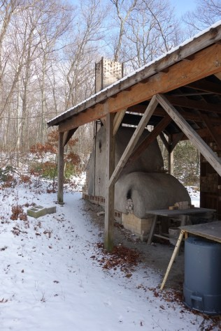 Wood kiln in the yard