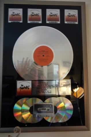 Steve's quadruple platinum album (Wave back at me! :-))