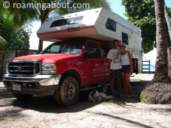With our camper in Costa Rica